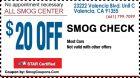 $20 Smog Coupon