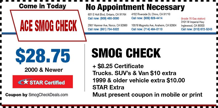 ace smog check smog coupons. Black Bedroom Furniture Sets. Home Design Ideas