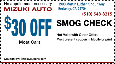 Berkeley Smog Coupon