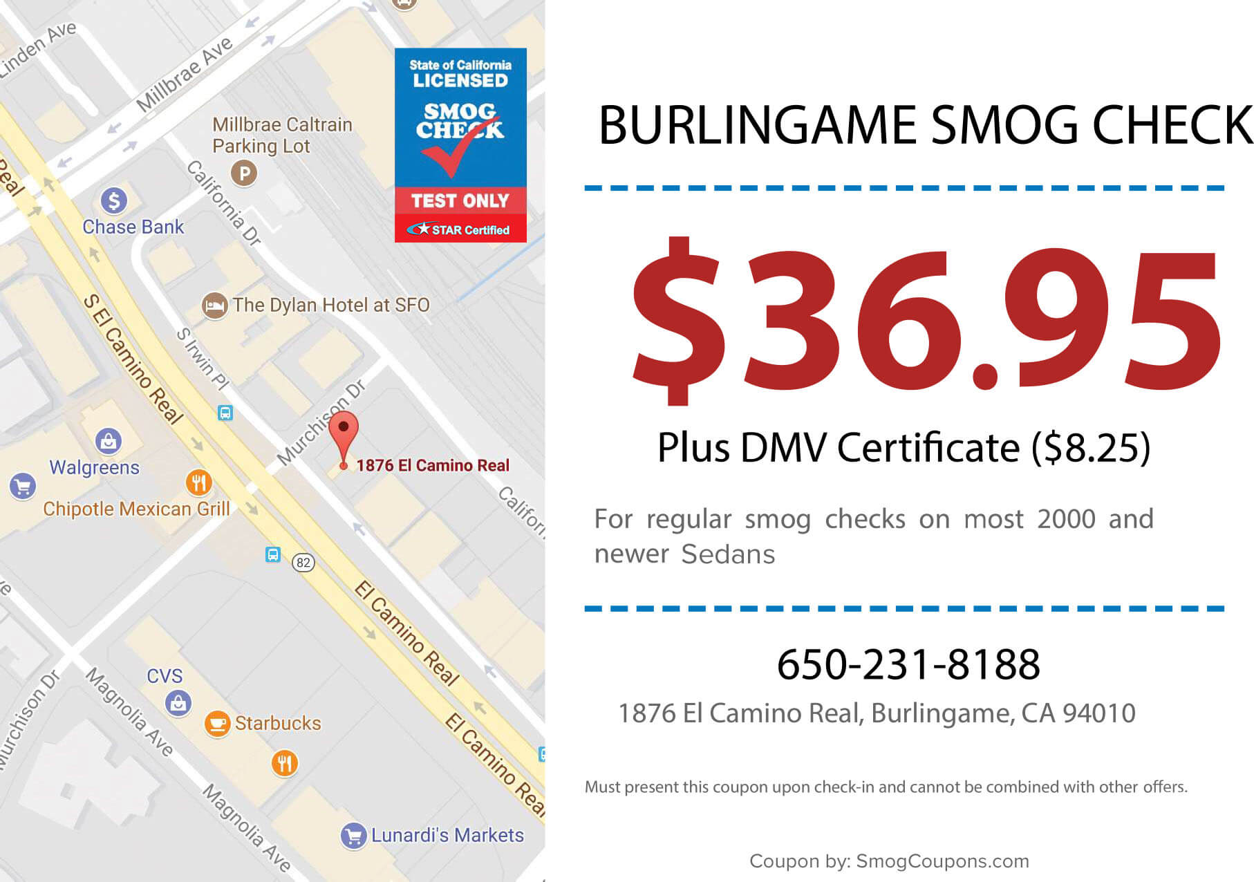 burlingame smog check smog coupons. Black Bedroom Furniture Sets. Home Design Ideas