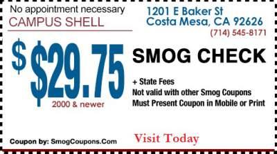 Mira mesa smog check coupons