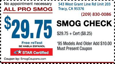 smog check coupons tracy ca