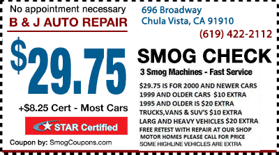 D and V Smog – Repair