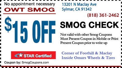 Dmv smog check coupons