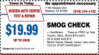 Smog Test Coupons